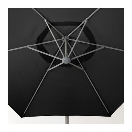 Зонт от солнца, подвесной ОКСНЭ / ЛИНДЭЙА черный фото 2