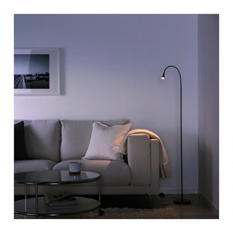 Светильник напольный, светодиодный ЯНШО черный фото 2